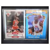 1990 Fleer Basketball Michael Jordan Base Card & All-Star Card WOW!!!