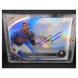 2013 Bowman Platinum Blue Miguel Sano Autograph Rookie Serial #51/199!!!