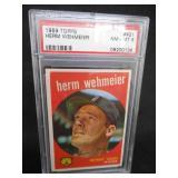 PSA 8 NM-MT 1959 Topps Herm Wehmeier #421 Detroit Tigers