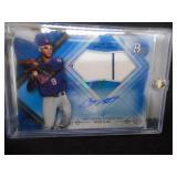 2014 Bowman Platinum Blue Autograph Jersey Byron Buxton Rookie Serial #155/199 L@@K!!!