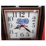 """Pepsi Cola Pheasant Clock 13""""x24""""x3"""""""