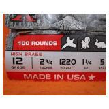 (100) Rounds 12ga. Shotgun Shells