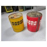 (2) 5 gal Metal Cans