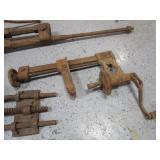 Vintage Vise, Clamp, Drill Press