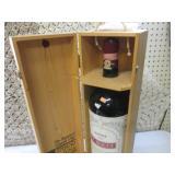 (G-1) Huge Glass Bottle in Wood Box...