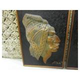 (BSB) 2pc Wood Carving Wall Decor 2...