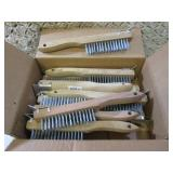 (BSB) Lot of 12 Wire Brushes Wood H...