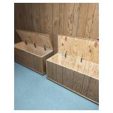 Two Wood Storage Chests