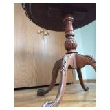 Eastlake Style End table Carved With Glass