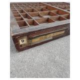 Vintage Wood Printers Drawer Letterpress Shadowbox Typeset