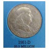 Benjamin Franklin Half Dollar Binder With 2 Coins