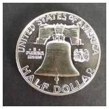 1962 Benjamin Franklin Proof Silver Half Dollar