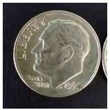 2 Nice Roosevelt Silver Dimes