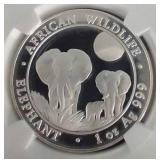 2015 Somalia African Wildlife 1 Oz. Silver Coin