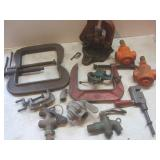 Pipe Vise, C-Clamps