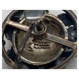 "Vintage Signed ""N.E. From"" Denmark Sterling Silver Earrings (Niels Erik)"