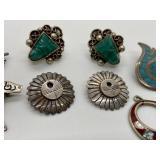 Vintage Sterling Silver Earrings & Pins
