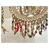 Vintage Sterling Cowboy Hat Necklace, Horse Brooch & Silver Tone Earrings