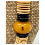 Vintage Butterscotch Bead Necklace & Pendant