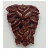 Vintage Brown Bakelite Shoe Clip w/ Floral Motif
