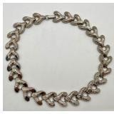 "Vintage ""Reinad"" Silver Tone Necklace"