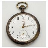 Antique Omega Grand Prix 1900 0.875 Silver Pocket Watch-Paris- Works!