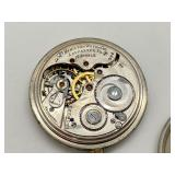 Antique Hamilton 17 Jewels Silver Plate Pocket Watch 1508222 - Not Working