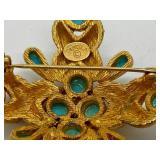 Vintage DeNicola Gold Tone Brooch/ Pin