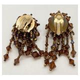 "Pair Vintage ""Lois Ann"" Swarovski Crystal Clip Earrings"