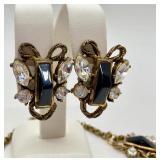 Beautiful Vintage Costume Set- Necklace & Earrings