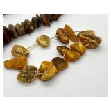 Large Vintage Raw Amber Necklace & Bracelet