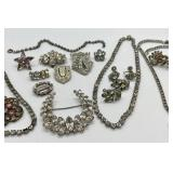 Sparkly Vintage Crystals & Rhinestones Assorted Jewelry Lot