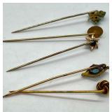 5 Antique Stick Pins