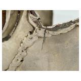 Lovely Silver Plate Cuff Bracelet w/ Jasper Stone