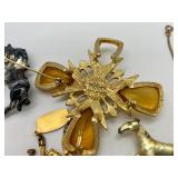 Amazing Assorted Antique & Vintage Jewelry Lot- Gold Tone, Gold Filled & Brass