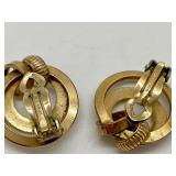 """Set 4 pieces """"Winard"""" 12k Gold Filled Jewelry- Brooches & Earrings"""