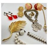 Stunning Vintage Assorted Jewelry Lot Including Trifari, Napier, Richlieu, Czech, Avon & more