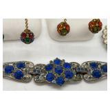 Sparkly Vintage Bracelet, Earrings & Brooch