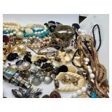 Huge Lot of Assorted Vintage & Antique Jewelry- Complete & Broken Pieces & Loose Stones Pendants & Beads