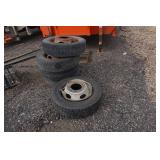 Lot of 19.5 Semi/Truck Rims and Tires