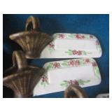 Ceramic name cards with basket (6),...
