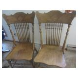 Dine chairs - pressback spindle, qt...