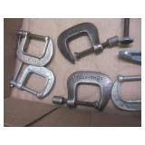 C-clamps with vintage, qty 17...