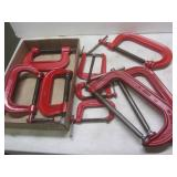 """C-clamps: two 8"""", one 6"""", three 4"""",..."""
