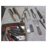 Utility & putty knives, punch, plie...