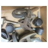 Dolly wheels: plastic, vintage pull...