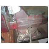 Workbench, plate steel top, two vis...