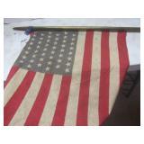 US flag - 48 star, metal wrapped po...