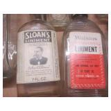 Apothecary bottles: liniment, liquo...