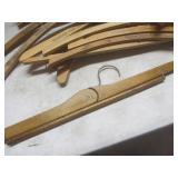 Wooden souvenir hangers...